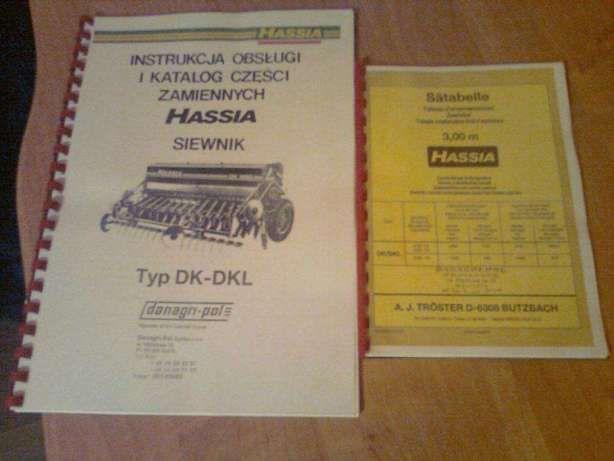 Tabela wysiewu Hassia JĘZYK POLSKI Instrukcja Katalog Hasia