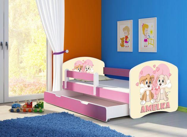Łóżko, łóżeczko dziecięce Różowe 180x80