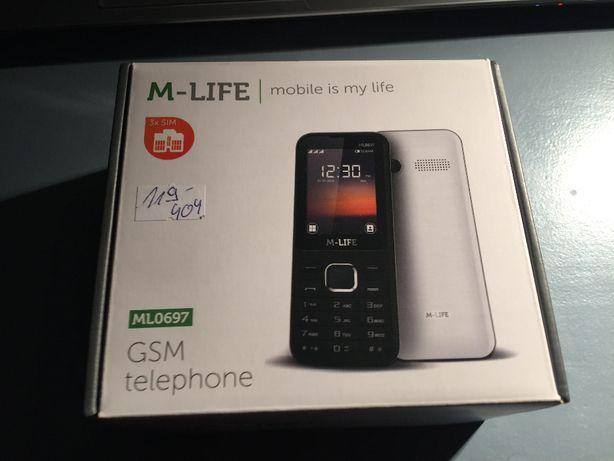 Telefon gsm M-LIFE ML0697B czarny 3Xsim NOWY