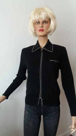 Sweter czarno-biały r.40