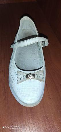 Туфлі білі для дівчинки 35 розміру