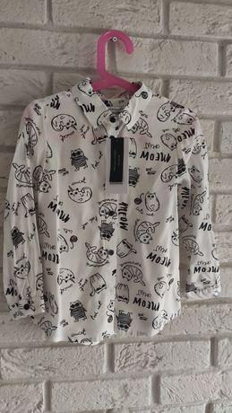 Koszula koszulka bluzka z kołnierzykiem elegancka Reserved r.110