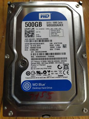 "Жесткий диск для компьютера WD 3.5"" WD5000AAKX 500 GB (HDD, винчестер)"