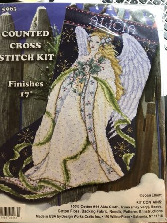 Набор для вышивки крестом Design Works Holly Angel Ангел stocking