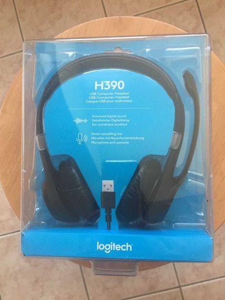 Słuchawki Logitech H390 przewodowe nowe, fabrycznie zapakowane