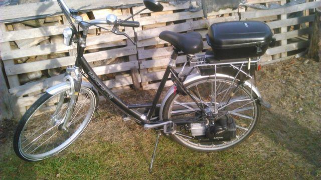 Rower spalinowy z silnikiem sachsa.
