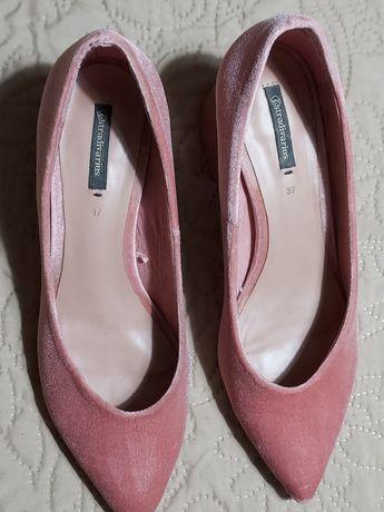 Sapato veludo com tacao