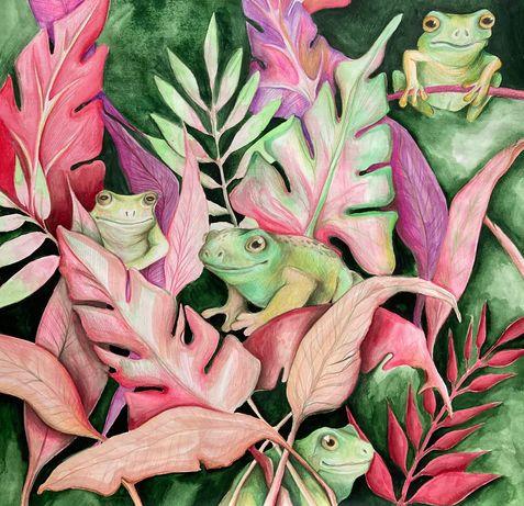 Rysunek żabki dla dzieci