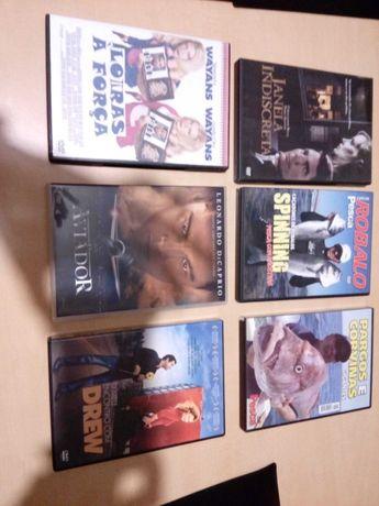 DVD de filmes e documentarios.