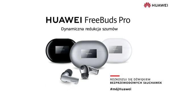 Słuchawki bezprzewodowe Huawei FreeBuds Pro Srebrne