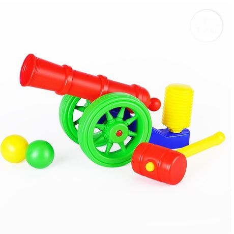 Царь Пушка, Пушка пластиковая  стреляет пластиковыми шариками
