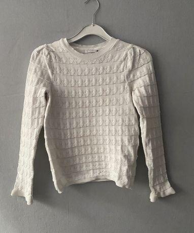 Bluzka sweter sweterek biały w jodełke swetr reserved 36 S zara