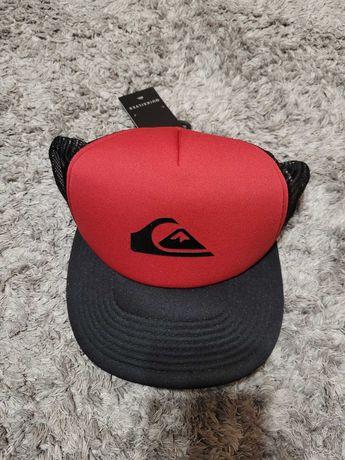 Czapka z daszkiem Quicksilver czerwono-czarna nowa