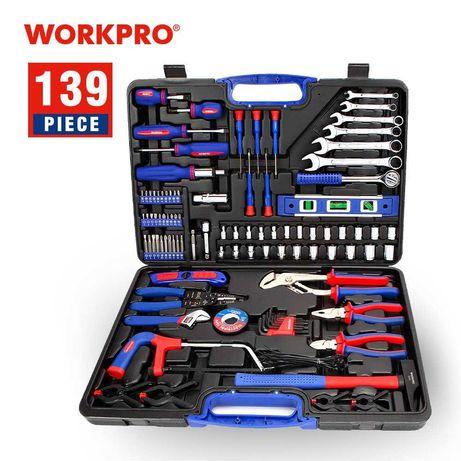 (Novo) Kit de ferramentas. 139 PEÇAS. Chaves, alicates, martelo etc.