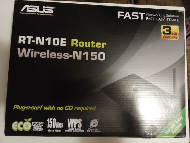 Маршрутизатор RT-N10E Router Wireless-N150 фирмы Asus.