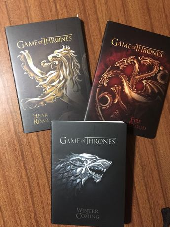 3 Mini notebooks Game of Thrones - blocos