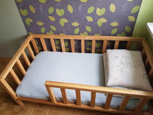 Drewniane łóżko dziecięce KLASYCZNE SCANDI 160X80
