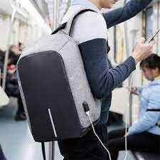Рюкзак Bobby с отделением для ноутбука и USB портом антивор серый