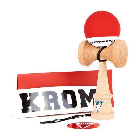 Kendama KROM pop gra japońska drewniana red
