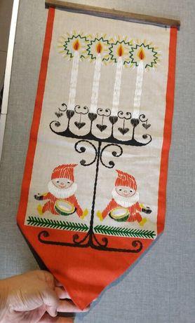Мешок (носок) для новогоднего подарка карман  handmade