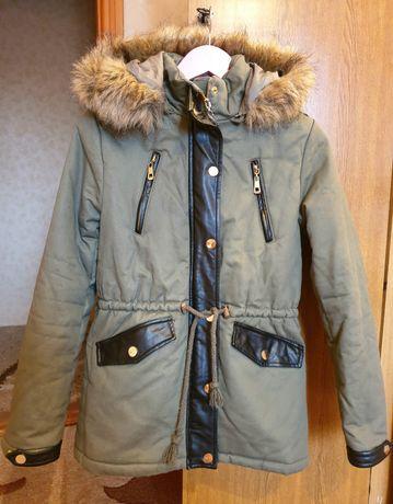 Шикарная тёплая куртка парка