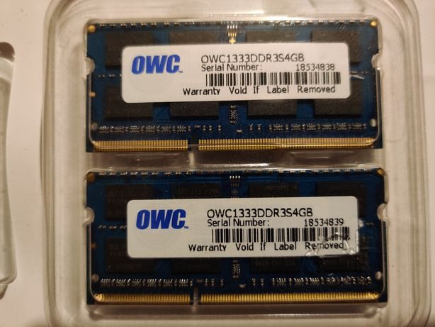 Pamięć do laptopa OWC DDR3 4GB 1333MHz CL9 Apple Qualified MAC