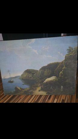 Stary obraz-pejzaż