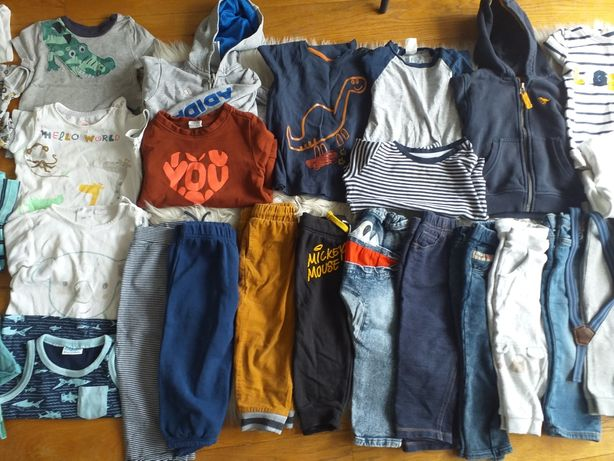 Paczka markowych ubrań dla chłopca 86/90