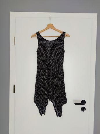 Czarna tunika/sukienka na ramiączkach 146/152 - H&M