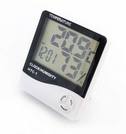 Гигрометр HTC-1, термометр с часами и будильником
