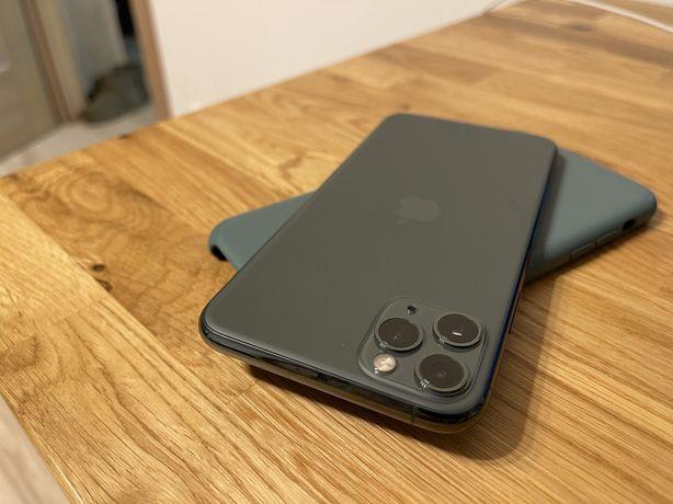 iPhone 11 Pro Max 64GB nocna zieleń, 97% baterii, gwaracja