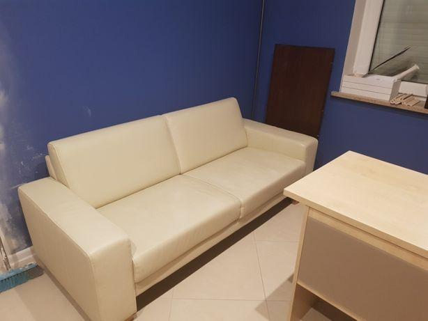 Sofa eco skóra beżowa