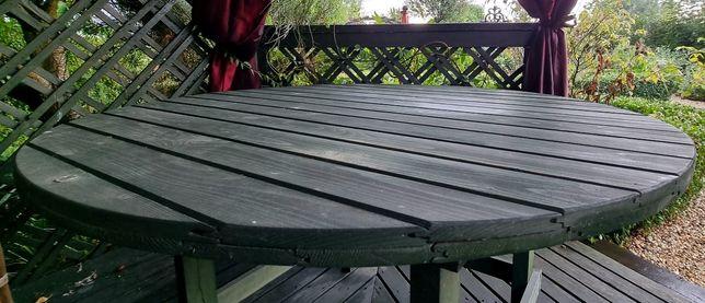 Stół drewniany ogrodowy
