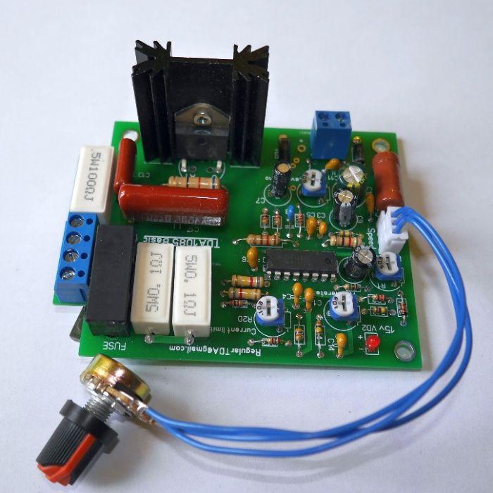 Регулятор оборотов и мощности коллекторного двигателя TDA1085