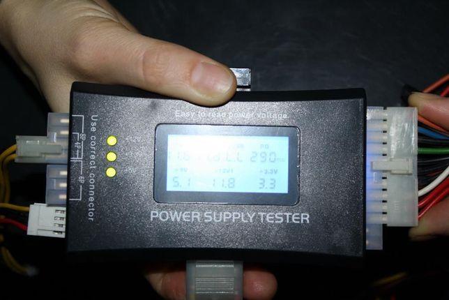 Тестер блоков питания ATX, BTX, ITX, PSU с LCD дисплеем.