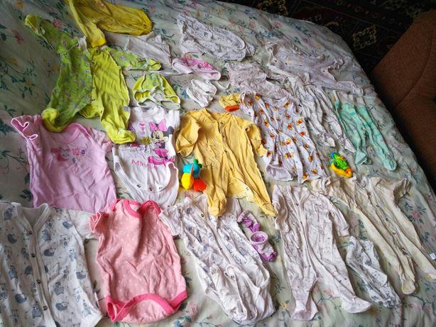Дитячий одяг пакетом від 0-6міс.
