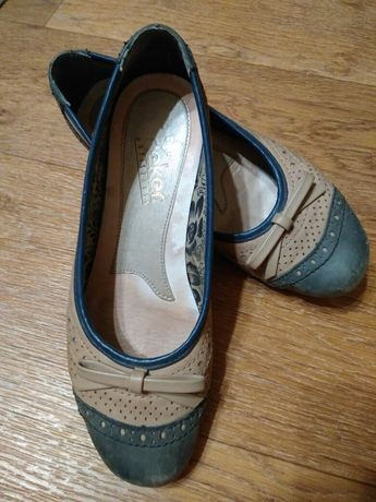 Туфли Rieker на низком каблуке