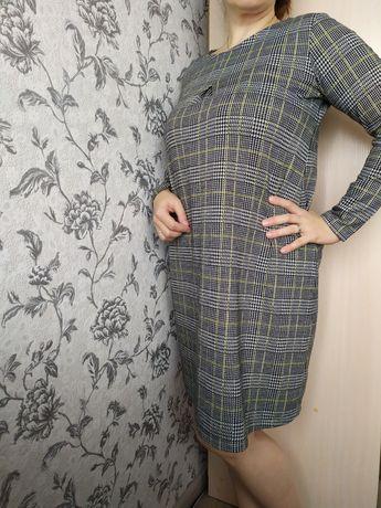 Платье в клетку повседневное Oversize на 50-52 рр