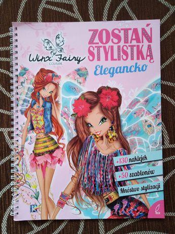 Winx Zostań stylistką Elegancko naklejki szablony