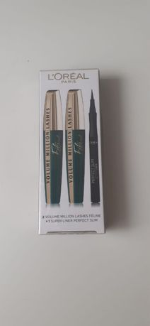 L'Oreal 2 x tusz million lashes feline + eyeliner perfekt slim