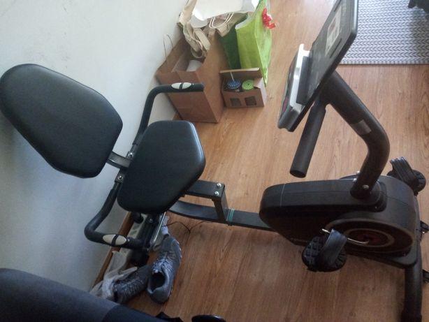 Bicicleta estática com assento reclinável SportPlus
