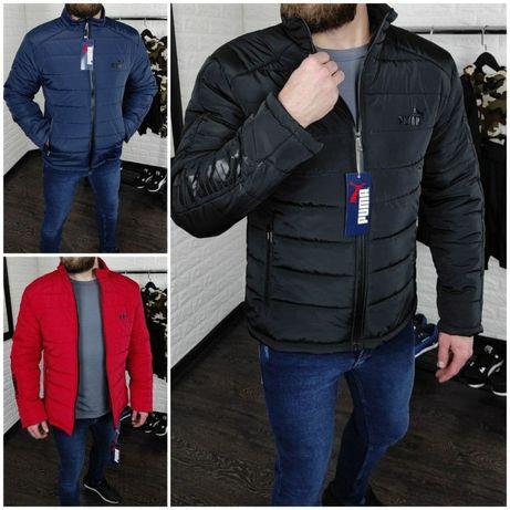 ЛЮКС! Мужская куртка Puma демисезон чёрная/синяя/красная. Весна-осень