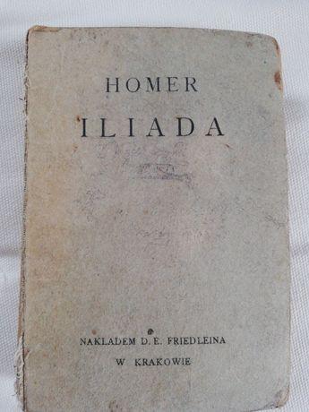 Książka z 1922 roku Homer Iliada