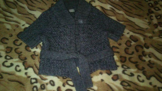 Damski sweter rozpinany z wełny rozmiar 36 szary NOWY!!!