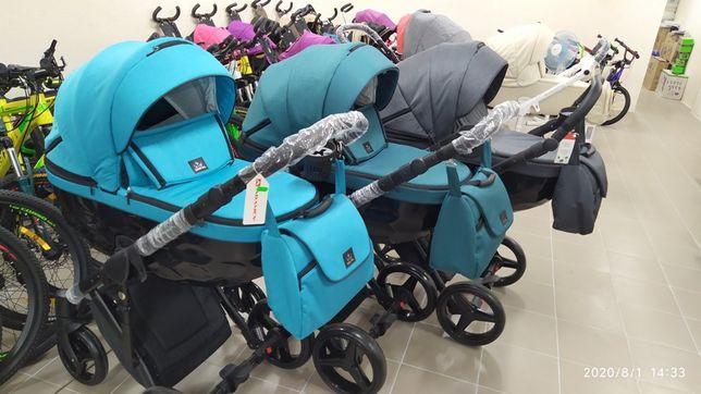 Коляска для новорожденных 2в1 Adamex Chantal