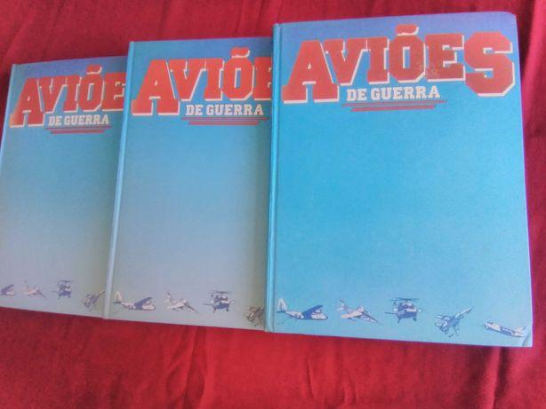 Aviões de Guerra. Livros Volume 1-3. Nova Cultural. 1985