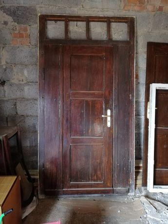 Drzwi drewniane dwuskrzydłowe 100cm