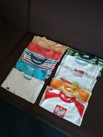 T-shirt Zara, H&M i inne rozm 74/80
