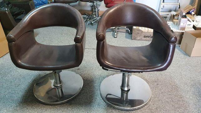 Fotele fryzjerskie sprawna pompa 3 sztuki