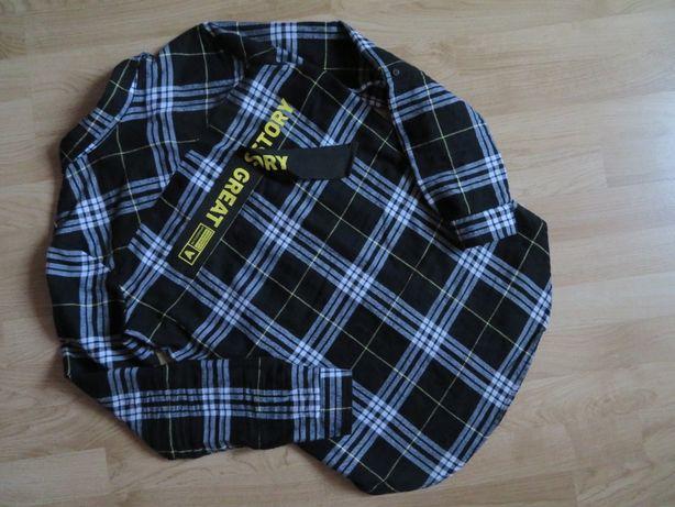 SINSAY koszula rozpinana w kratę bluzka, SUPER PLECY, j.NOWA, (36) S